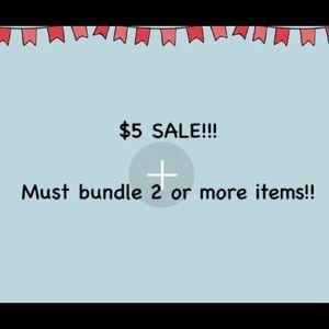 🛍$5 Sale!!!!! 🛍